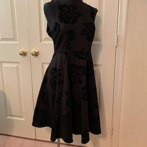 *RARE* flocked black dress